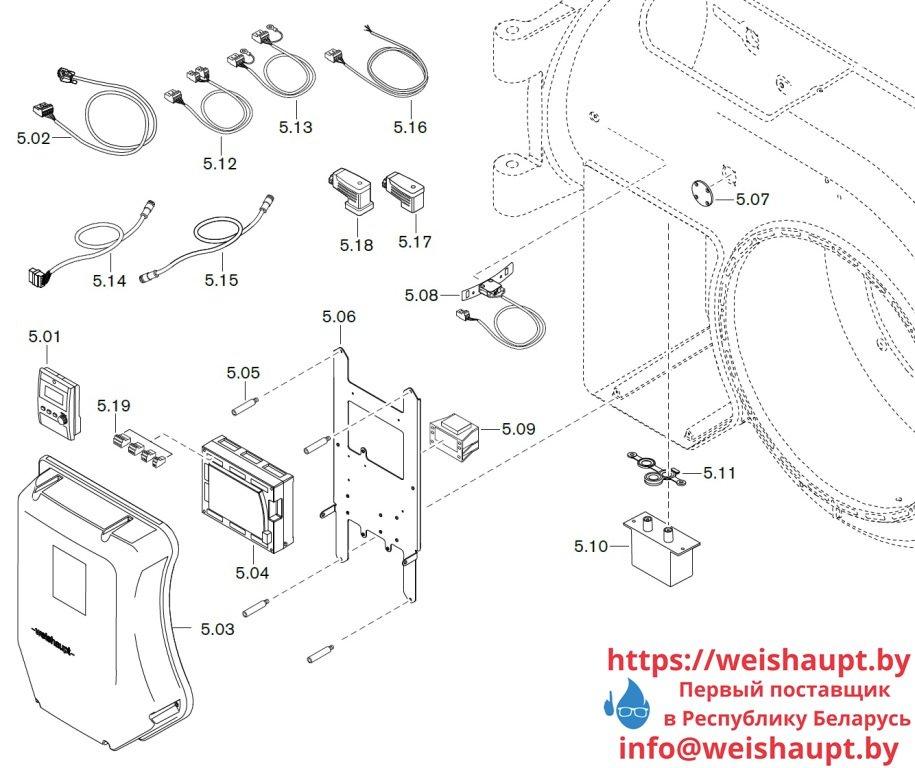 Схема запасных частей к газовой горелке Weishaupt WM-G50/1-A/ZM-NR (W-FM 100/200). Схема 5.
