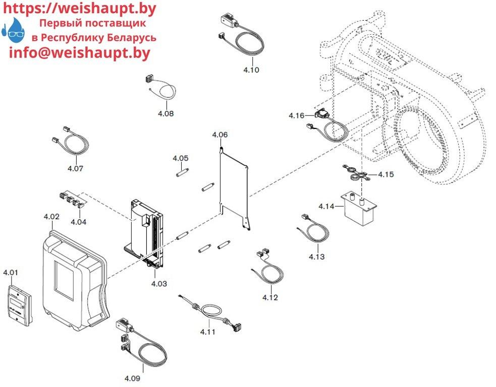 Запасные части к газовой горелке Weishaupt WM-G10/1-A/ZM (W-FM 50). Схема 4.