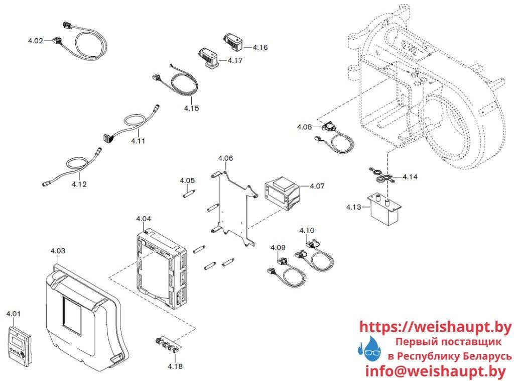 Запасные части к газовой горелке Weishaupt WM-G10/1-A/ZM-LN (W-FM 100/200). Схема 4.