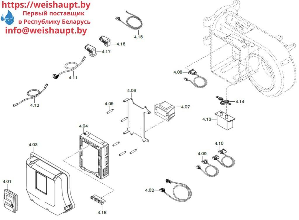 Запасные части к газовой горелке Weishaupt WM-G10/4-A/ZMI (W-FM 100/200). Схема 4.
