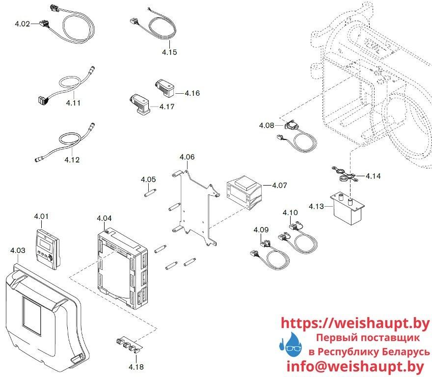 Запасные части к газовой горелке Weishaupt WM-G10/2-A/ZM-LN (W-FM 100/200). Схема 4.