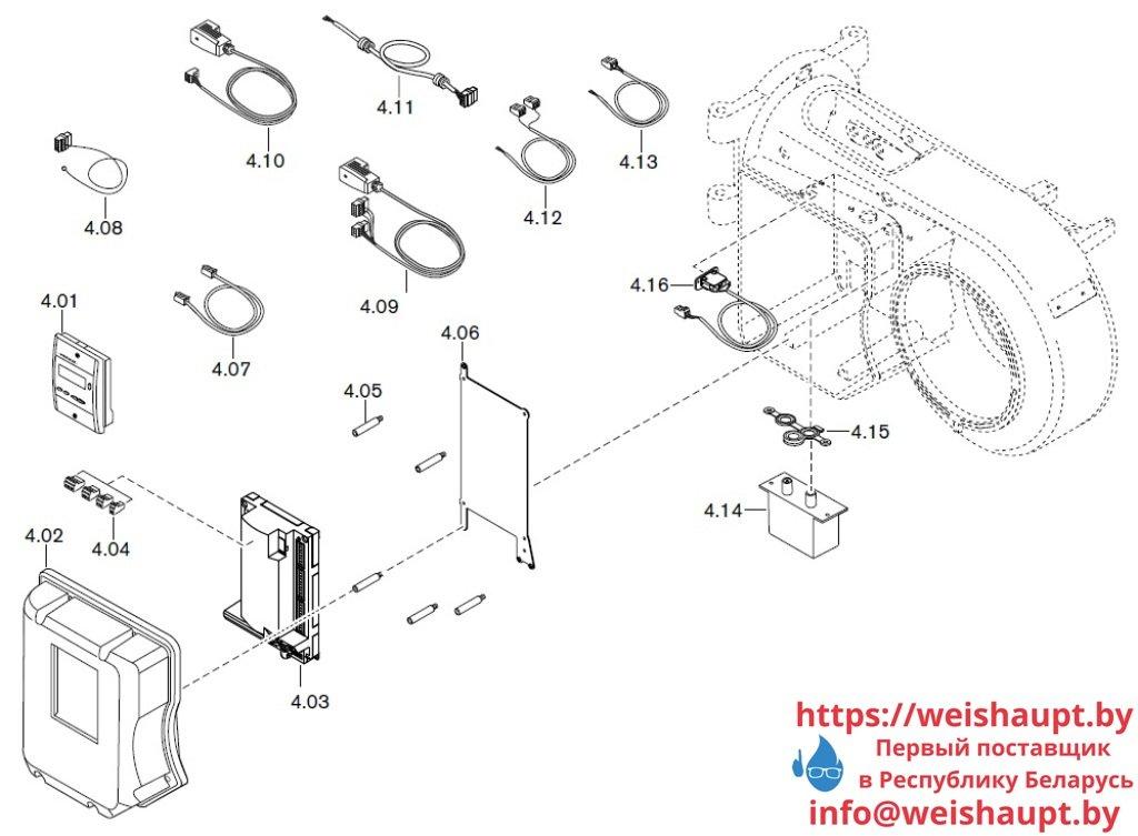 Запасные части к газовой горелке Weishaupt WM-G10/2-A/ZM-LN (W-FM 50). Схема 4.
