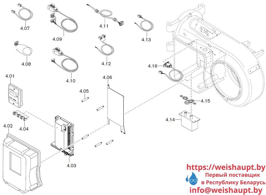 Запасные части к газовой горелке Weishaupt WM-G10/3-A/ZM-LN (W-FM 50). Схема 4.