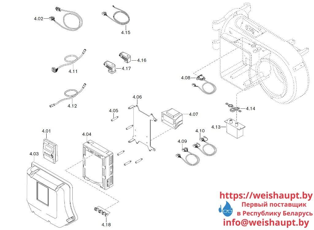 Запасные части к газовой горелке Weishaupt WM-G10/3-A/ZM (W-FM 100/200). Схема 4.