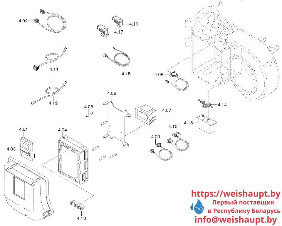 Запасные части к газовой горелке Weishaupt WM-G10/3-A/ZMI (W-FM 100/200). Схема 4.