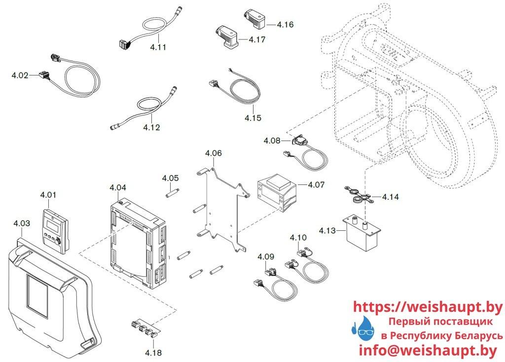Запасные части к газовой горелке Weishaupt WM-G10/4-A/ZM (W-FM 100/200). Схема 4.