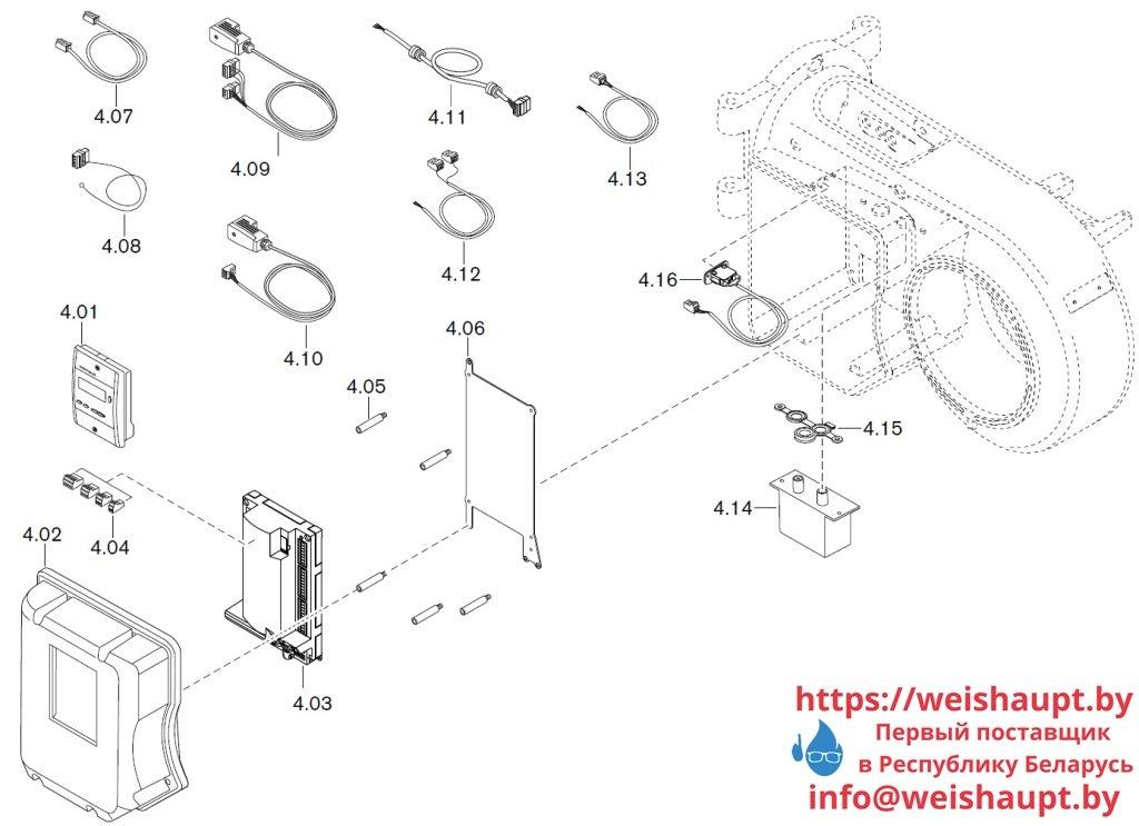 Запасные части к газовой горелке Weishaupt WM-G10/4-A/ZM (W-FM 50). Схема 4.
