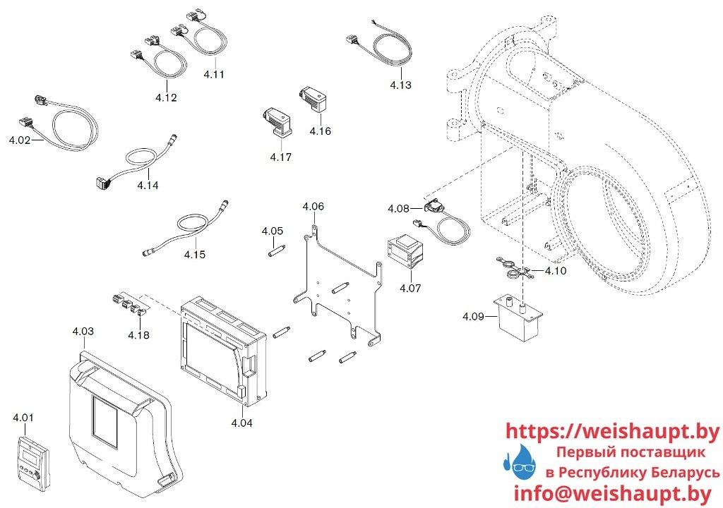 Запасные части к газовой горелке Weishaupt WM-G20/2-A/ZM-LN (W-FM 100/200). Схема 4.