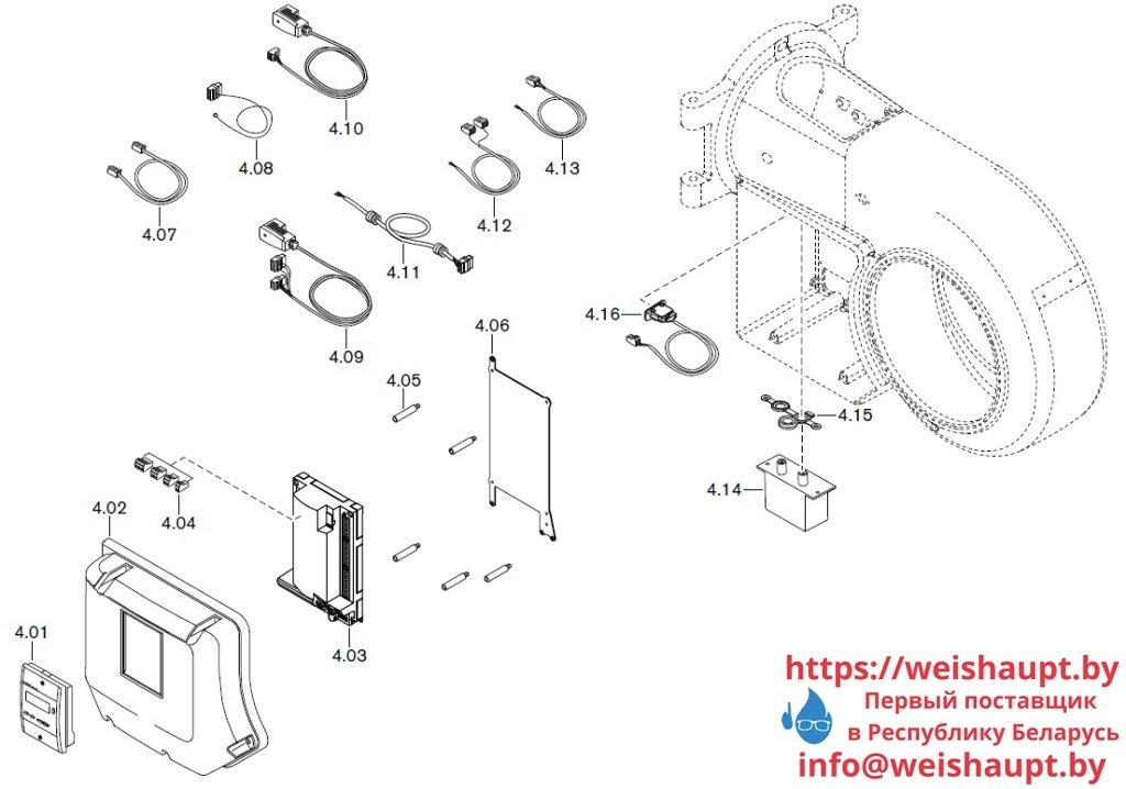 Запасные части к газовой горелке Weishaupt WM-G20/2-A/ZM (W-FM 50). Схема 4.