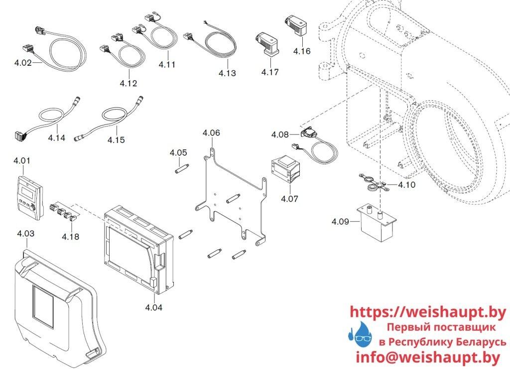 Запасные части к газовой горелке Weishaupt WM-G20/3-A/ZM-LN (W-FM 100/200). Схема 4.