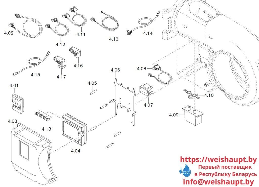 Запасные части к газовой горелке Weishaupt WM-G30/1-A/ZM (W-FM 100/200). Схема 4.