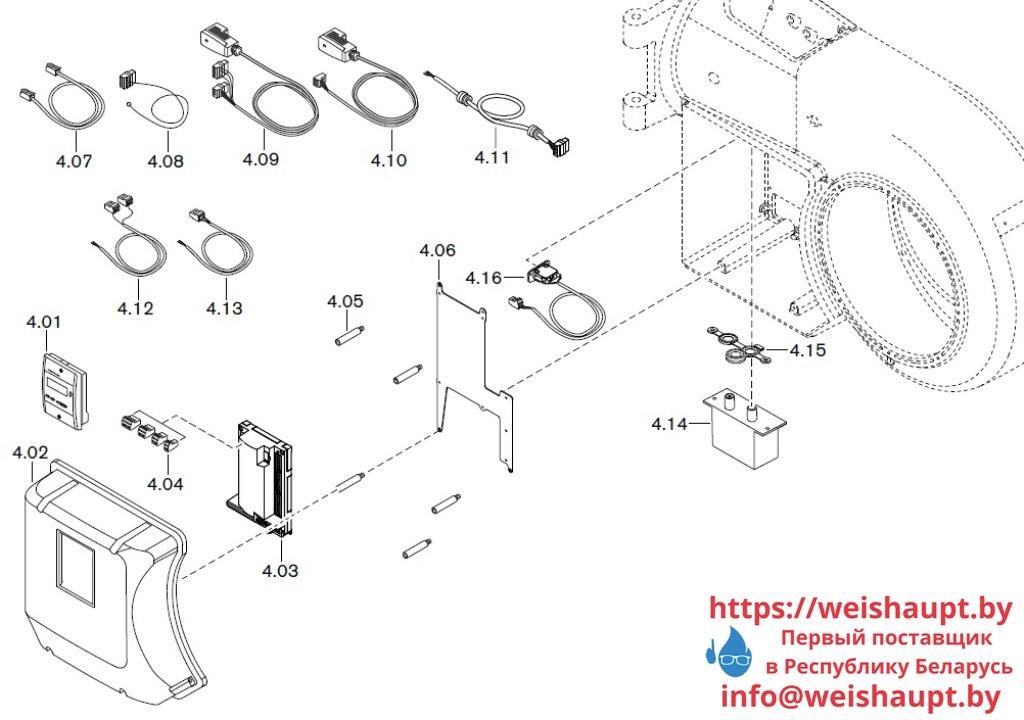 Запасные части к газовой горелке Weishaupt WM-G30/1-A/ZM (W-FM 50). Схема 4.
