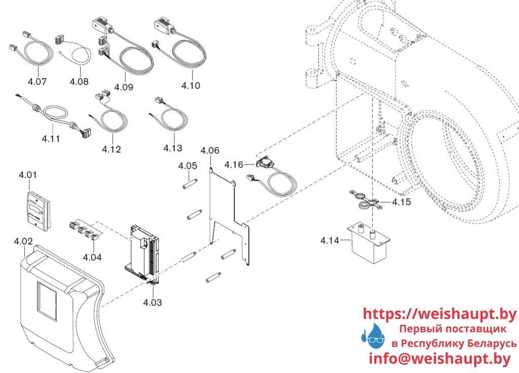 Запасные части к газовой горелке Weishaupt WM-G30/2-A/ZM-LN (W-FM 50). Схема 4.