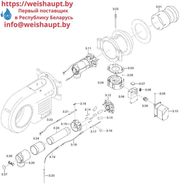 Запасные части к газовой горелке Weishaupt WM-G30/2-A/ZM (W-FM 100/200). Схема 3.