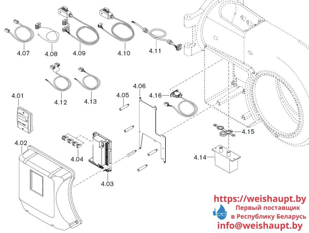 Запасные части к газовой горелке Weishaupt WM-G30/2-A/ZM (W-FM 50). Схема 4.