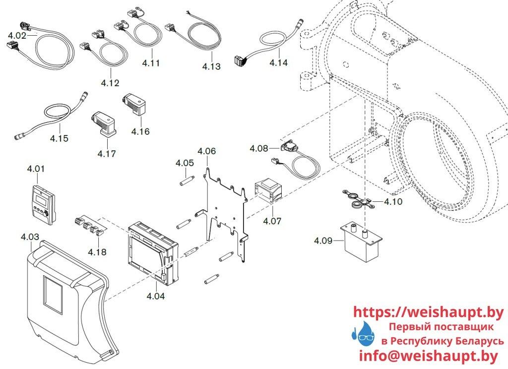 Запасные части к газовой горелке Weishaupt WM-G30/3-A/ZM (W-FM 100/200). Схема 4.