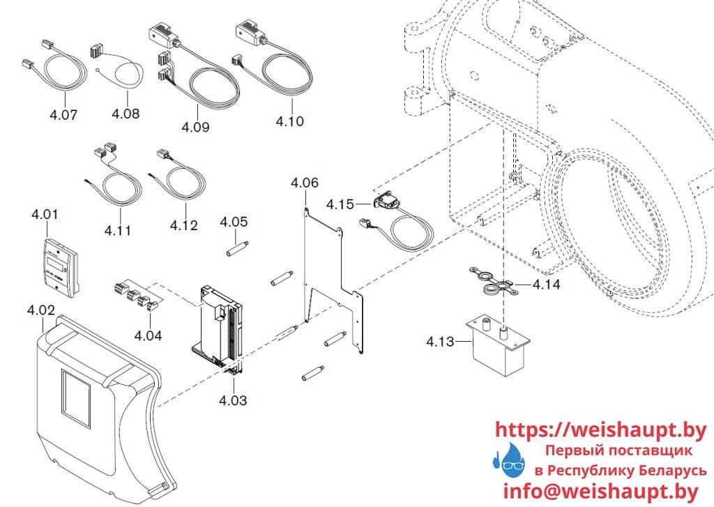 Запасные части к газовой горелке Weishaupt WM-G30/3-A/ZM (W-FM 50). Схема 4.