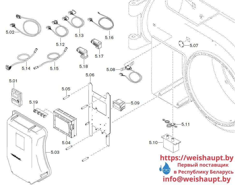 Запасные части к газовой горелке Weishaupt WM-G50/2-A/ZM-NR (W-FM 100/200). Схема 5.