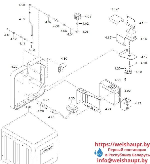 Запчасти к газовым горелочным устройствам Weishaupt WKG 70/1-B ZM(H)-NR (W-FM 100/200). Схема 4.
