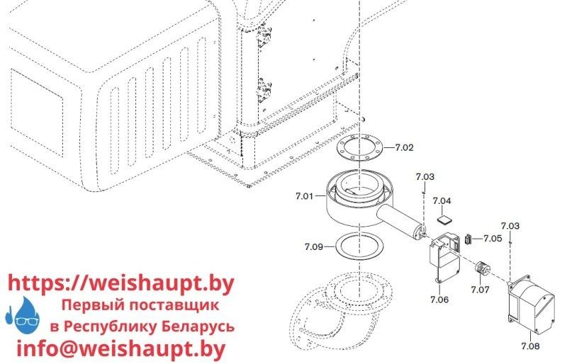 Запчасти к газовым горелочным устройствам Weishaupt WKG 70/1-B ZM(H)-NR (W-FM 100/200). Схема 7.