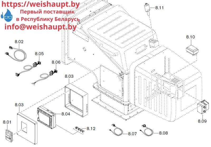 Запчасти к газовым горелочным устройствам Weishaupt WKG 70/1-B ZM(H)-NR (W-FM 100/200). Схема 8.