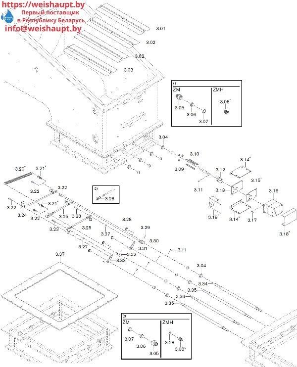 Запчасти к газовым горелочным устройствам Weishaupt WKG 80/3-A ZM(H)-NR (W-FM 100/200). Схема 3.
