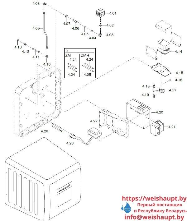 Запчасти к газовым горелочным устройствам Weishaupt WKG 80/3-A ZM(H)-NR (W-FM 100/200). Схема 4.