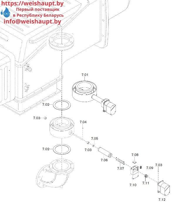 Запчасти к газовым горелочным устройствам Weishaupt WKG 80/3-A ZM(H)-NR (W-FM 100/200). Схема 7.