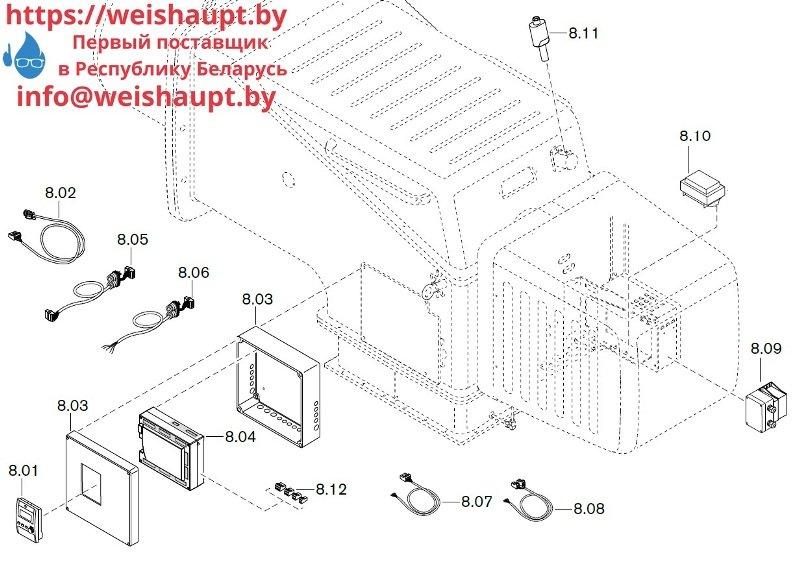 Запчасти к газовым горелочным устройствам Weishaupt WKG 80/3-A ZM(H)-NR (W-FM 100/200). Схема 8.