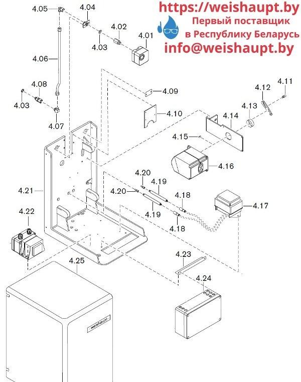 Запчасти к газовым горелочным устройствам Weishaupt WKG40/2-A ZM(H) (W-FM 100/200). Схема 4.