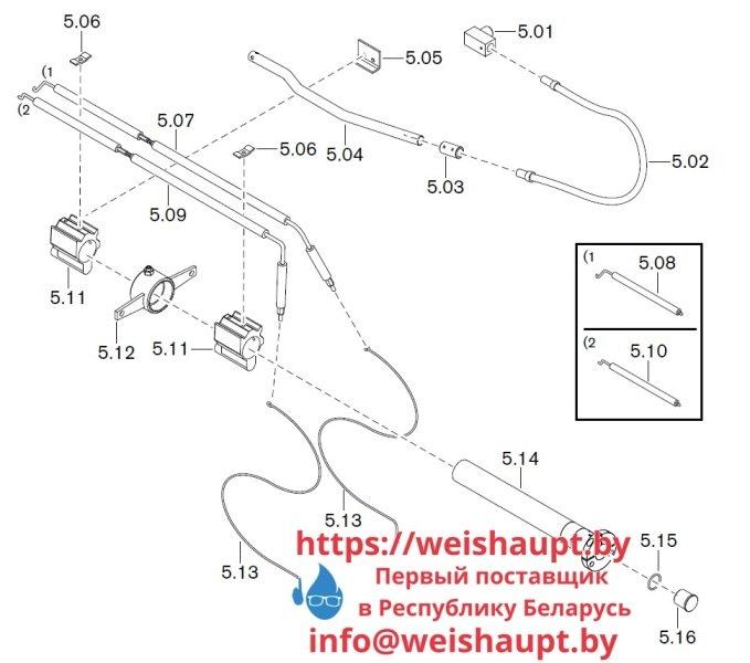 Запчасти к газовым горелочным устройствам Weishaupt WKG40/2-A ZM(H) (W-FM 100/200). Схема 5.