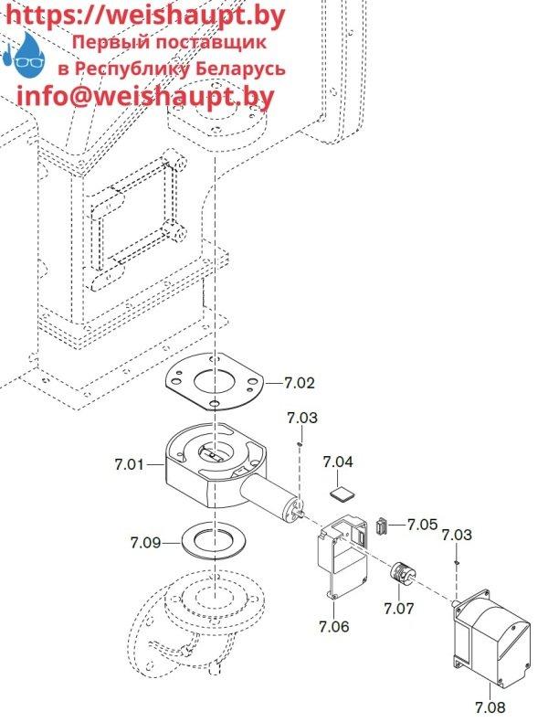 Запчасти к газовым горелочным устройствам Weishaupt WKG40/2-A ZM(H) (W-FM 100/200). Схема 7.