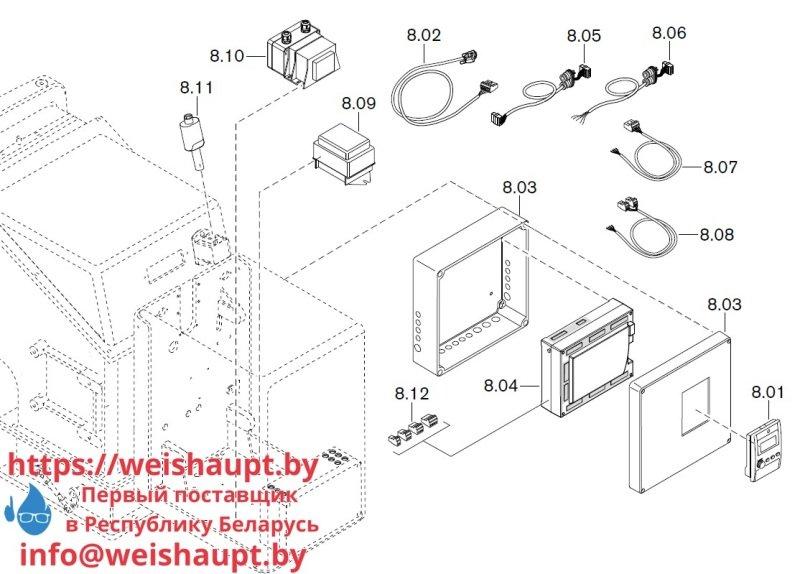 Запчасти к газовым горелочным устройствам Weishaupt WKG40/2-A ZM(H) (W-FM 100/200). Схема 8.
