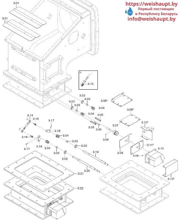 Запчасти к газовым горелочным устройствам Weishaupt WKG50/2-A ZM(H) (W-FM 100/200). Схема 3.