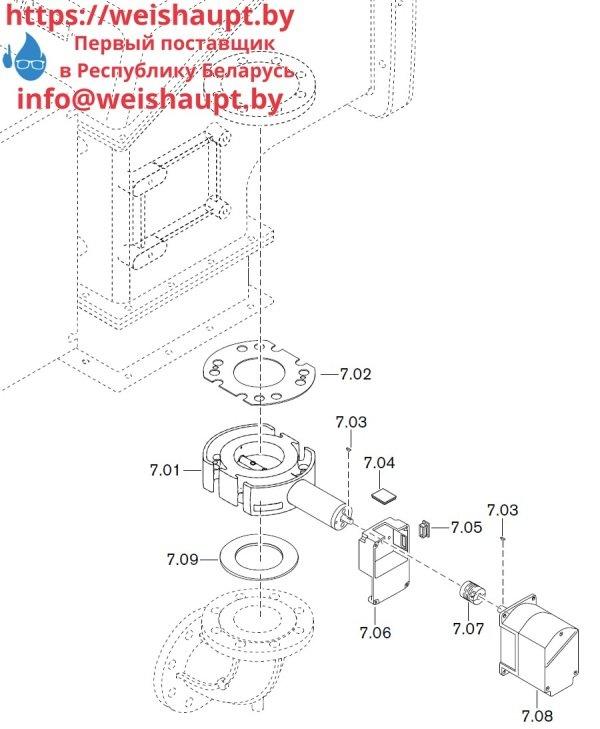 Запчасти к газовым горелочным устройствам Weishaupt WKG50/2-A ZM(H) (W-FM 100/200). Схема 7.