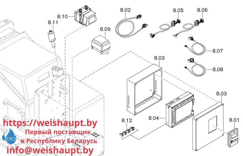 Запчасти к газовым горелочным устройствам Weishaupt WKG50/2-A ZM(H) (W-FM 100/200). Схема 8.