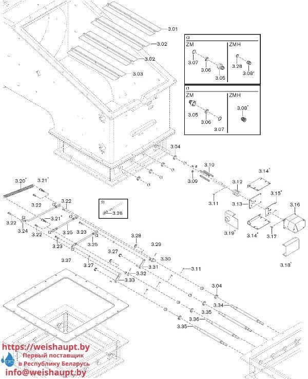 Запчасти к газовым горелочным устройствам Weishaupt WKG80/4-A ZM(H)-VSF (W-FM 100/200). Схема 3.