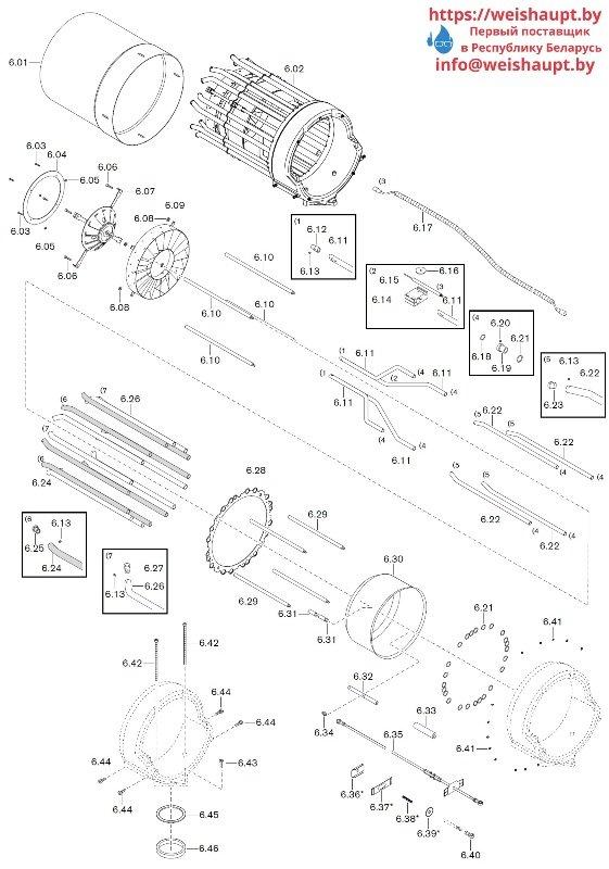 Запчасти к газовым горелочным устройствам Weishaupt WKG80/4-A ZM(H)-VSF (W-FM 100/200). Схема 6.