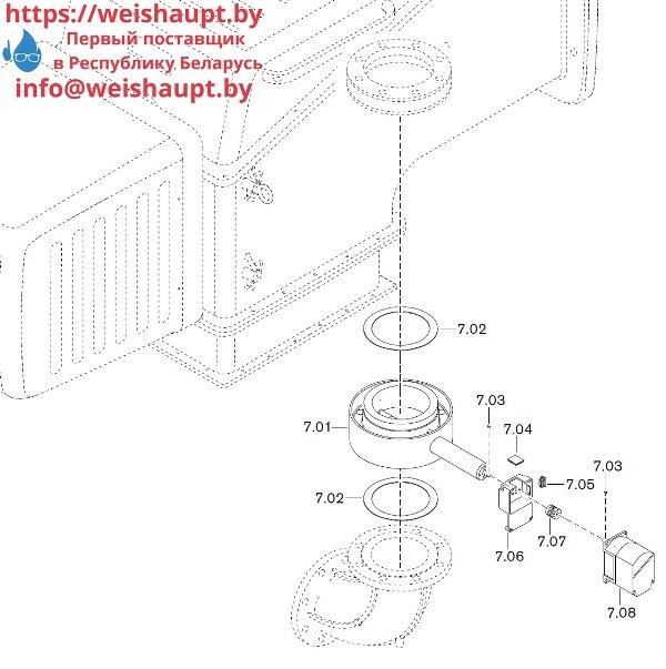 Запчасти к газовым горелочным устройствам Weishaupt WKG80/4-A ZM(H)-VSF (W-FM 100/200). Схема 7.