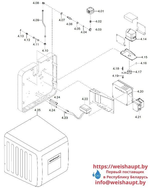 Запчасти к газовым горелочным устройствам Weishaupt WKG80/5-A ZM(H)-VSF (W-FM 100/200). Схема 4.