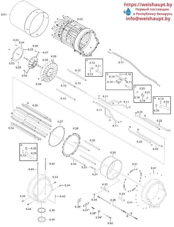 Запчасти к газовым горелочным устройствам Weishaupt WKG80/5-A ZM(H)-VSF (W-FM 100/200). Схема 6.
