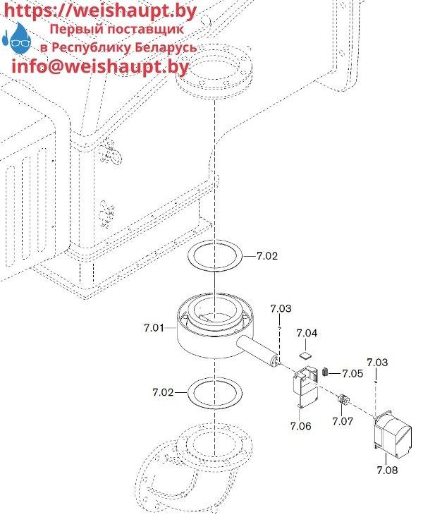 Запчасти к газовым горелочным устройствам Weishaupt WKG80/5-A ZM(H)-VSF (W-FM 100/200). Схема 7.