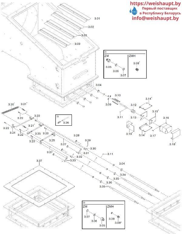 Запчасти к газовым горелочным устройствам Weishaupt WKG80/6-A ZM(H)-3SF (W-FM 100/200). Схема 3.