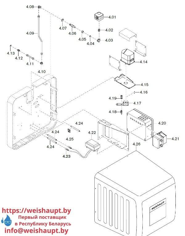 Запчасти к газовым горелочным устройствам Weishaupt WKG80/6-A ZM(H)-3SF (W-FM 100/200). Схема 4.