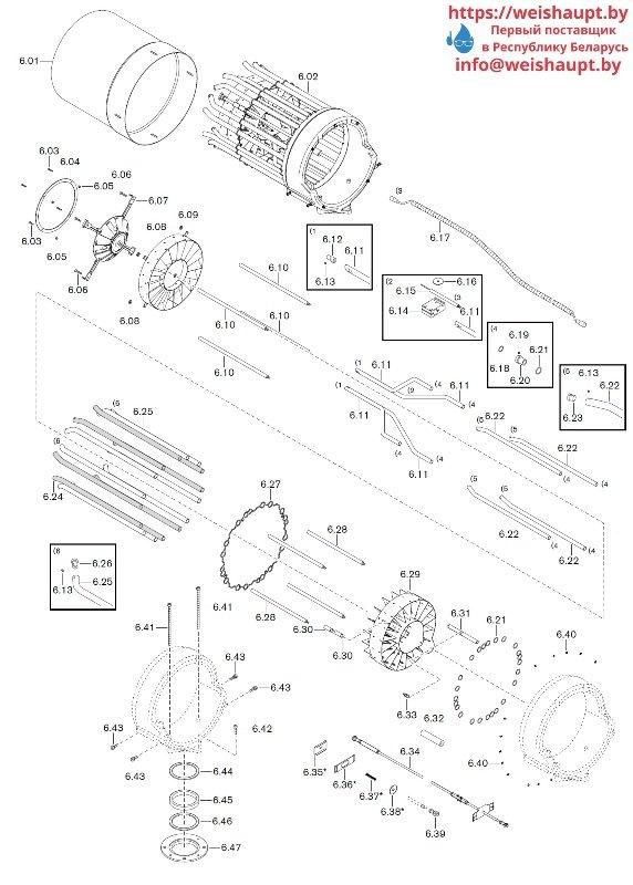 Запчасти к газовым горелочным устройствам Weishaupt WKG80/6-A ZM(H)-3SF (W-FM 100/200). Схема 6.