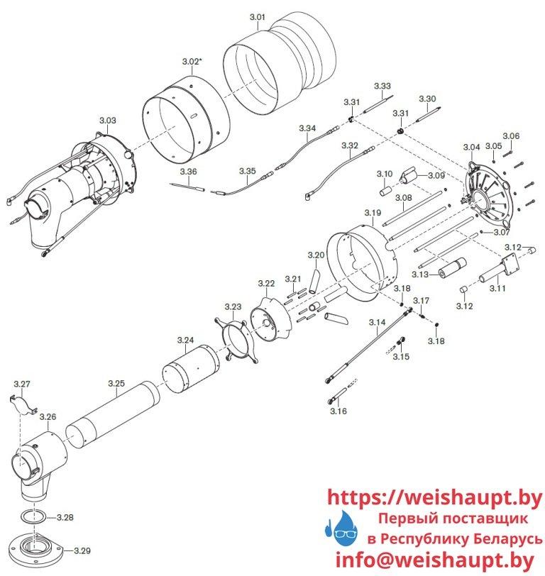 Запасные части к газовой горелке Weishaupt WKmono-G80/1-A/ZM-NR (W-FM 100/200). Схема 3