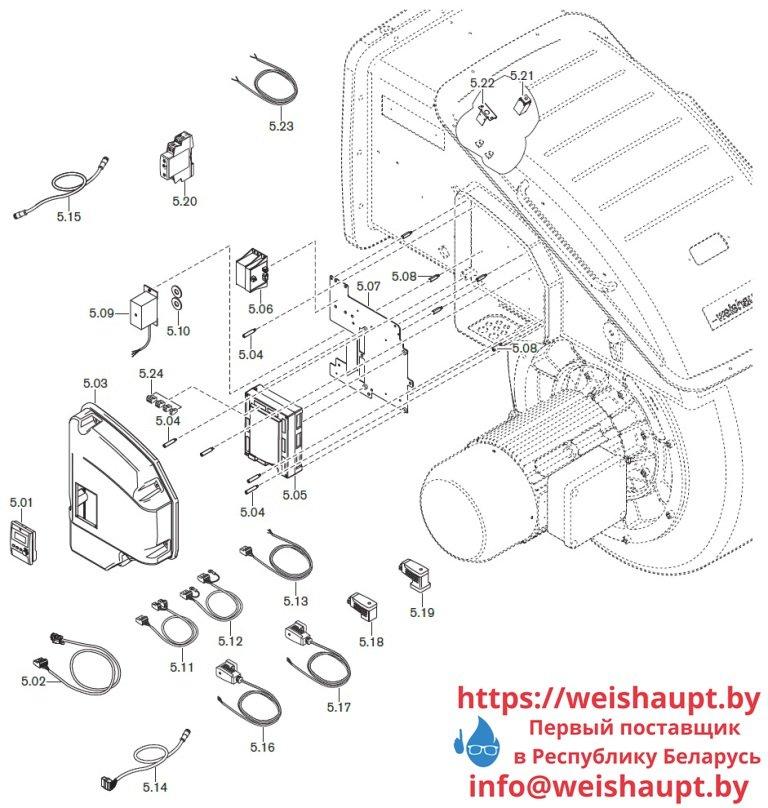 Запасные части к газовой горелке WKmono-G80/1-A/ZM-NR (W-FM 100/200). Схема 5.