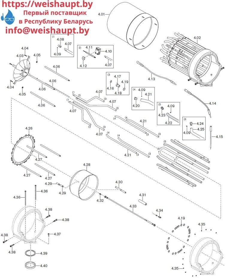 Запасные части к газовой горелке Weishaupt WKmono-G80/2-A/ZM-NR (W-FM 100/200). Схема 4.