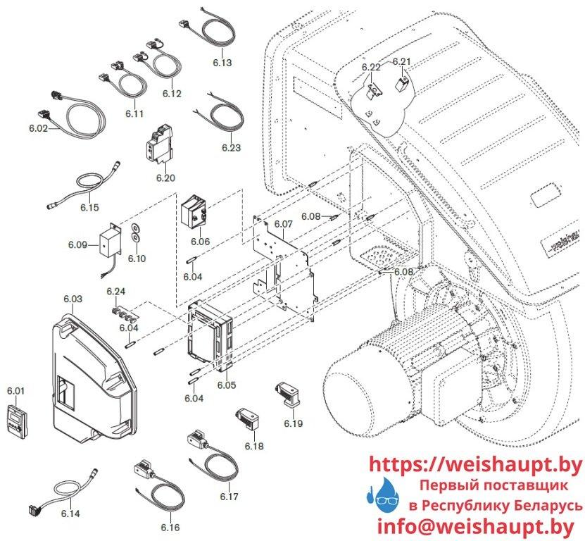 Запасные части к газовой горелке Weishaupt WKmono-G80/2-A/ZM-NR (W-FM 100/200). Схема 6.