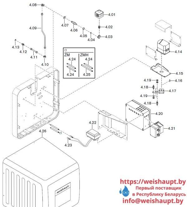 Запчасти к жидкотопливным горелочным устройствам Weishaupt WKL 80/3-A ZM(H) (W-FM 100/200). Схема 4.